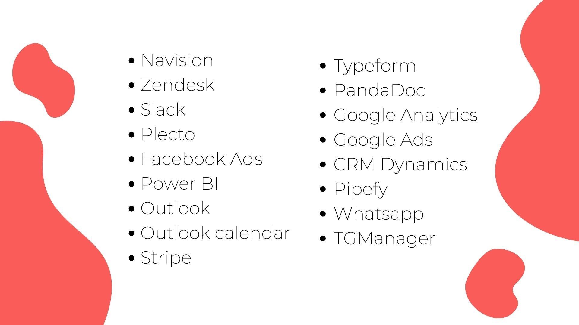Navision Zendesk Slack Plecto Facebook Ads Power BI (1)